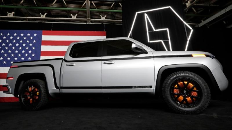 The electric Endurance pick-up truck at Lordstown Motors Corporation, on June 25, 2020. (Tony Dejak / AP)