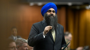 Conservative MP Tim Uppal rises during Question Period in the House of Commons on Parliament Hill in Ottawa on Friday, Feb. 28, 2020. THE CANADIAN PRESS/Justin Tang
