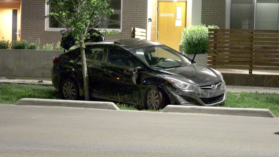 Calgary car crash