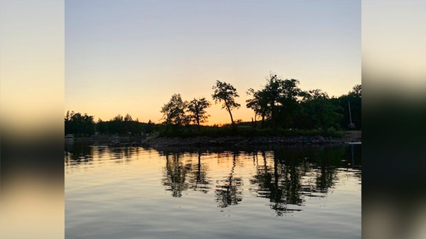 Evening skyline near Pinawa. Photo by Walter Wiebe.