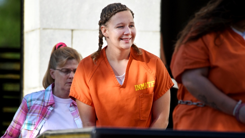In this June 26, 2018 file photo, Reality Winner walks into the Federal Courthouse in Augusta, Ga. (Michael Holahan/The Augusta Chronicle via AP, File)