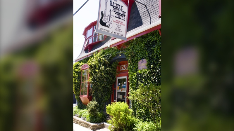 The music shop, which is located in a 150-year-old Victorian home, specializes in stringed music instruments. Tom says he has done his best to keep the shop looking like an original 1900s music store.(Photo courtesy: halifaxfolklorecentre.ca)