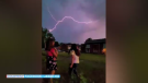 Caught on camera: Two sisters in the Trout Lake area of North Bay combine magic and lightning during a recent thunderstorm.