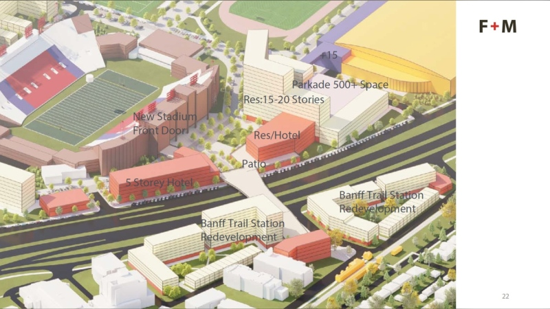 Artist rending of a proposed remodelling of Foothills Athletic Park. (Courtesy City of Calgary)