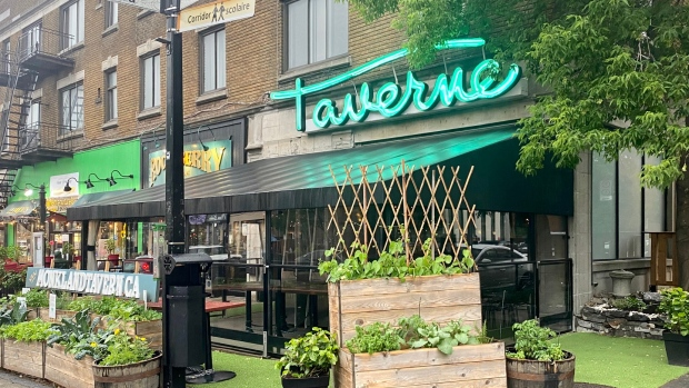 Struggling to recover post lockdown, Monkland Taverne sent a friendly reminder via Twitter to remind customers to call if they need to cancel their reservation so they don't lose out on potential business. (Cindy Sherwin/CTV News)