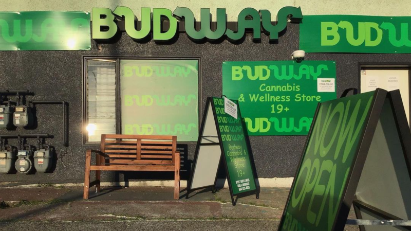 A photo of the outside of the East Vancouver Budway pot shop. (Instagram/BudwayOnClarke)