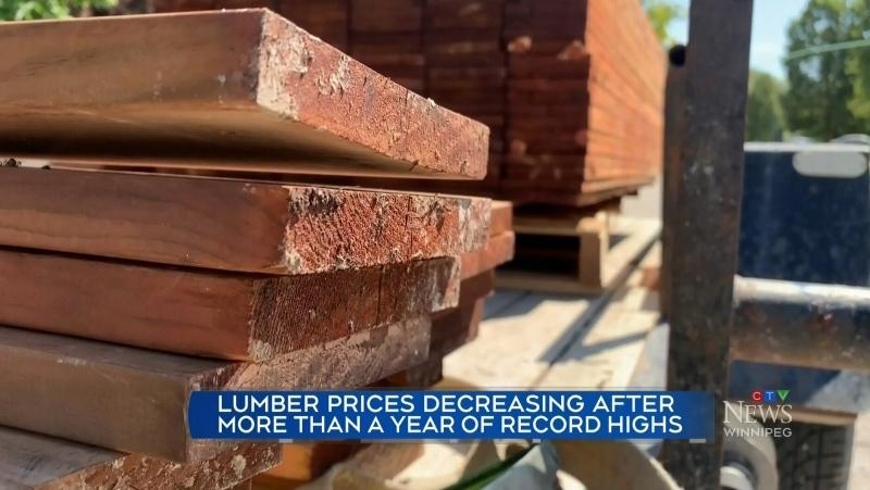 Lumber prices beginning to drop