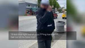 Shafira Vibyamaharami recorded video of a man who allegedly accosted her at a Vancouver bus stop on June 11, 2021. Police confirmed they are investigating the incident.