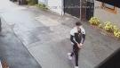 Alleged arsonist caught on camera in East Van