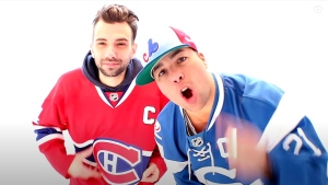 Montreal musician Annakin Slayd released a new song as a tribute to the Montreal Canadiens, featuring Habs fans across the country kissing their jerseys in a show of pride for the team. (Screen grab via YouTube/AnnakinSlayd)