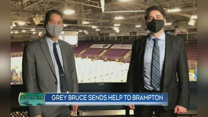 Grey Bruce Healt Unit staff helps in Peel Region
