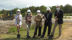 Officials break ground at site of hospital expansion on Manitoulin Island. June 14/21 (Lyndsay Aelick/CTV Northern Ontario)