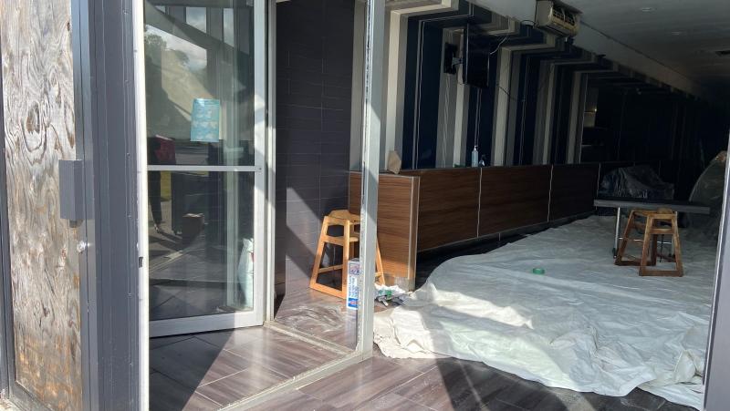 Chez Benny, a kosher restaurant in Montreal's Saint-Laurent borough, was vandalized Sunday night. (Christine Long/CTV News).