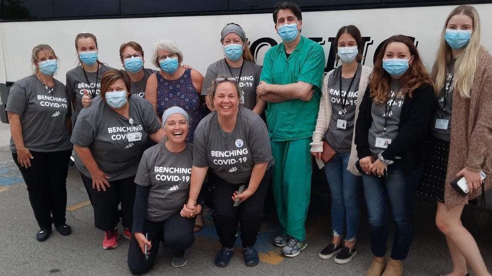Hockey Hub mass immunization clinic