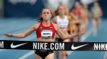 Shelby Houlihan wins the women's 5,000-metres at the U.S. Championships in Des Moines, Iowa, on June 24, 2018. (Charlie Neibergall / AP)