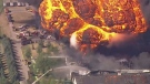 Moment of chemical plant explosion in Illinois