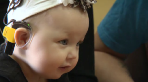 Ireland Gault was the youngest Manitoban ever to be outfitted with bilateral cochlear implants