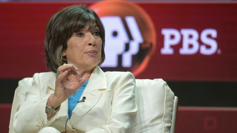 Christiane Amanpour participates in a panel in Beverly Hills, Calif., on July 30, 2018. (Richard Shotwell / Invision / AP)