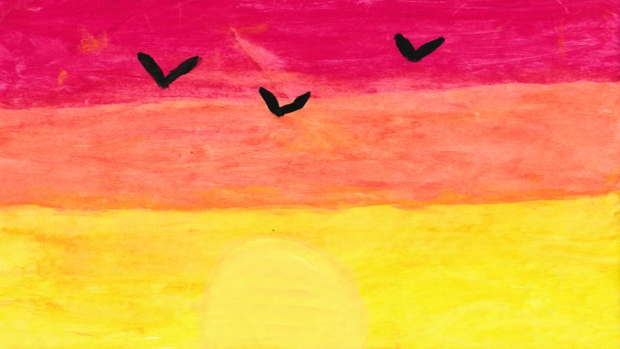 The sunset - Jaiden B., 8 years old, in Embrun