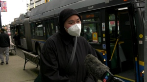 Shafira Vidyamaharani says she was harassed while waiting to take the bus in Vancouver.
