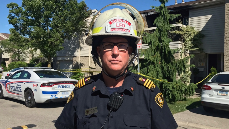 London Fire Department Platoon Chief Colin Shewell