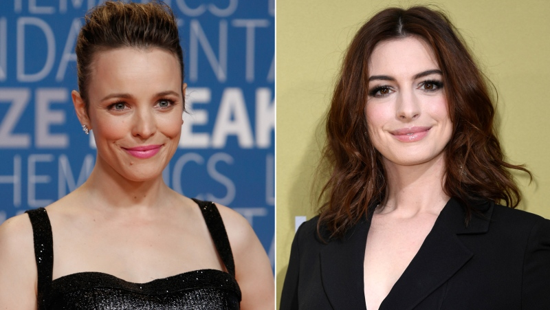 """""""The Devil Wears Prada"""" just wouldn't be the same without Anne Hathaway. But Hathaway, who played the lead role of Andy Sachs, a wide-eyed assistant to Meryl Streep's Miranda Priestly at a high-fashion glossy magazine, almost wasn't cast. (Getty Images via CNN)"""