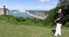 Former mayor Deb Shewfelt overlooks Lake Huron in Goderich, Ont. on Monday, June 14, 2021. (Scott Miller / CTV News)