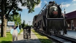The Engage ARt app shows a train at tourism headquarters in St. Thomas, Ont.