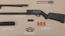 Transit police say they arrested a man after discovering he was carrying a shotgun. (Metro Vancouver Transit Police handout)