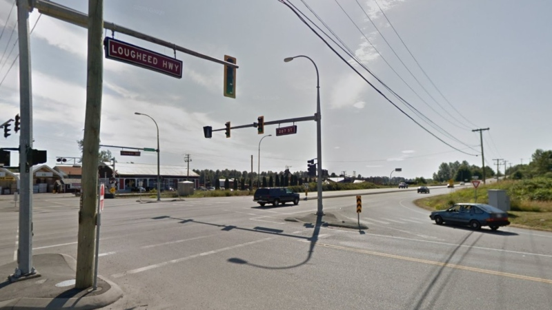 RCMP say they stopped a driver near Lougheed Highway and 287 Street after they were going more than twice the speed limit. (Google Maps)