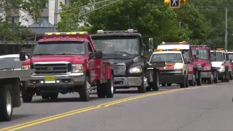 The tow truck licensing bylaw was on the agenda to be discussed at council Tuesday night, but that has since changed.