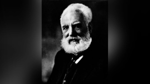 Alexander Graham Bell poses for a photograph in this undated image from the National Archives of Canada.