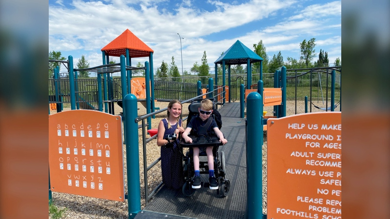 Grade 5 student Ella Cutting first brought the idea of an inclusive playground to her principal at Dr. Morris Gibson School. Her classmate Cooper Oakes would be out during recess but wasn't on the playground.