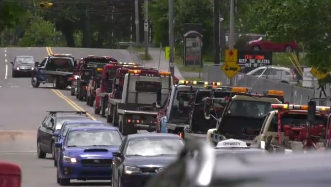 Tow truck protest in CBRM