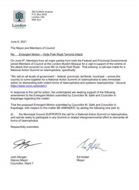 Motion to condemn Islamophobia