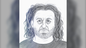 Calgary police released this sketch of a suspect in the sexual assault of a 14-year-old girl in the community of Lynnwood. (Calgary police handout)
