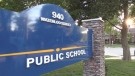 Ryerson Public School sign in London, Ont. on June 15, 2021. (Daryl Newcombe/CTV London)