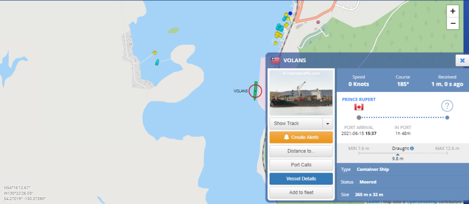 volans boat map