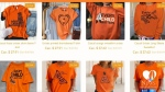 Orange shirts being sold without permission