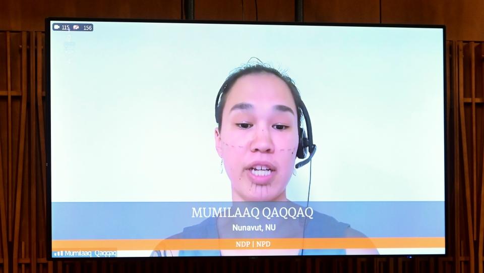 NDP member of Parliament Mumilaaq Qaqqaq
