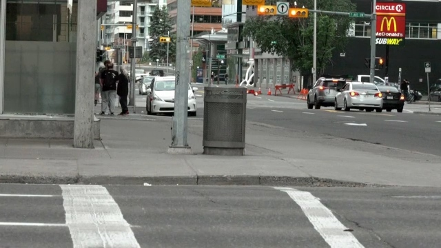 Calgary police are looking for anyone who may have witnessed a Muslim woman and her children being verbally attacked by a white man shortly before noon Tuesday, at the intersection of 6 Avenue and 8 Street S.W.