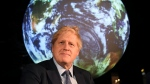 In this Feb. 4, 2020 file photo, Britain's Prime Minister Boris Johnson launches the upcoming UK-hosted COP26 UN Climate Summit in London, England. World leaders breathed an audible sigh of relief that the United States under President Joe Biden is rejoining the global effort to curb climate change, a cause that his predecessor had shunned. (Jeremy Selwyn/Pool via AP, File)