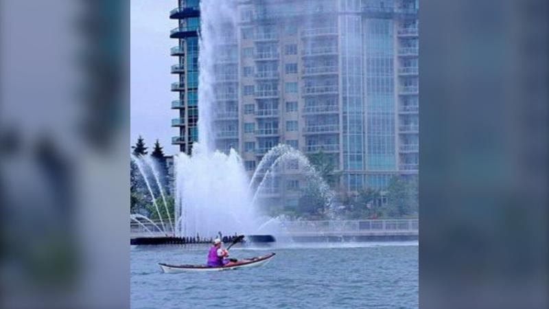 Kayak fun on the Detroit River near the Peace Fountain in Windsor, Ont. (Courtesy Steve Lutsch)