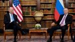 President Joe Biden meets with Russian President Vladimir Putin, Wednesday, June 16, 2021, in Geneva, Switzerland. (AP Photo/Patrick Semansky)