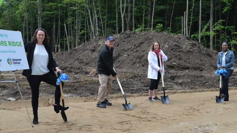 Groundbreaking for a new state-of-the-art supported living home in Oro-Medonte. (Empower Simcoe/SUBMITTED)