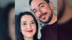 Yoan Morneau, right, with his girlfriend, Catherine Magny