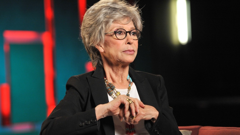 Rita Moreno says she is proud Lin-Manuel Miranda produced her documentary. (Angela Weiss/Getty Images for SAG Foundation via CNN)