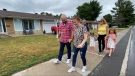 Sophie Lablond Robert walks with her family and is recovering from locked-in syndrome after she suffered a debilitating stroke that had left her paralyzed. Ottawa, Ont. June 15, 2020. (Tyler Fleming / CTV News Ottawa)