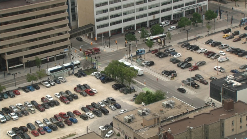 A high-pressure gas line was damaged near 185 Smith Street, prompting the evacuation of a building across the street.