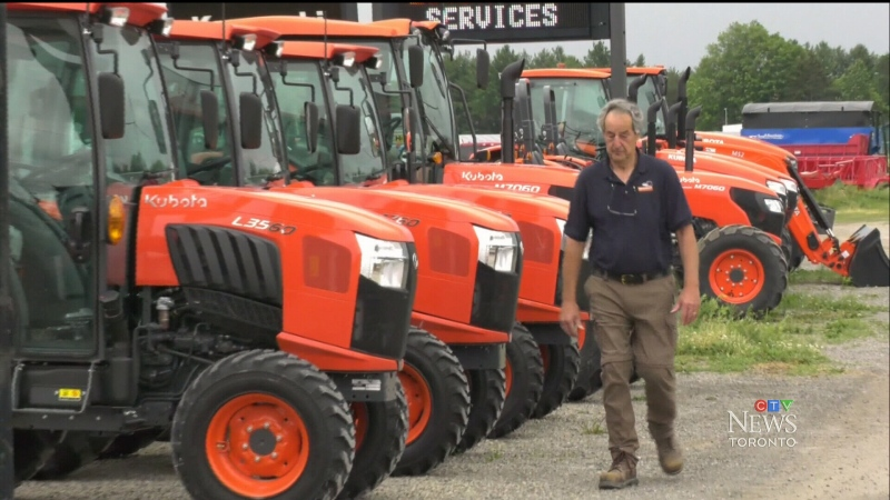 The pandemic has seen a demand for large machinery increase in Ontario — and suppliers can hardly keep up. (CTV News Toronto)